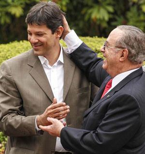 Lula (e) decide participar de encontro na casa de Maluf (d) com Haddad (c) em SP